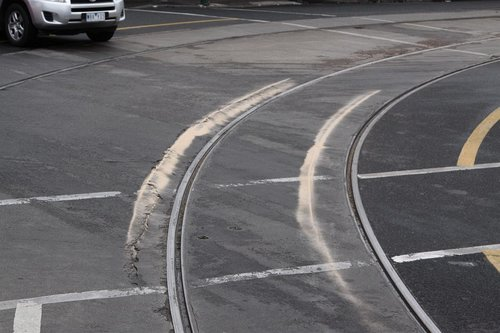 Sand on the tracks where Z3.205 put on the brakes