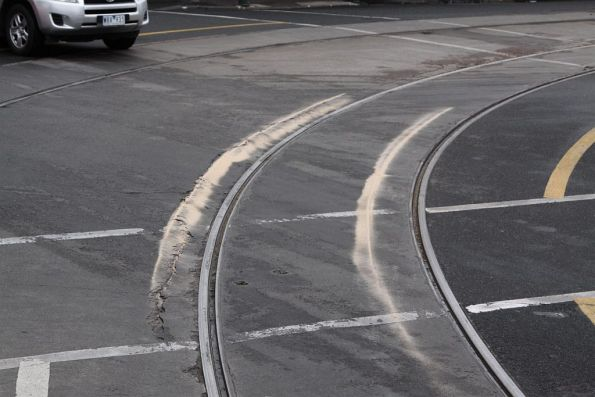 Keep clear of the tram tracks- October 2012