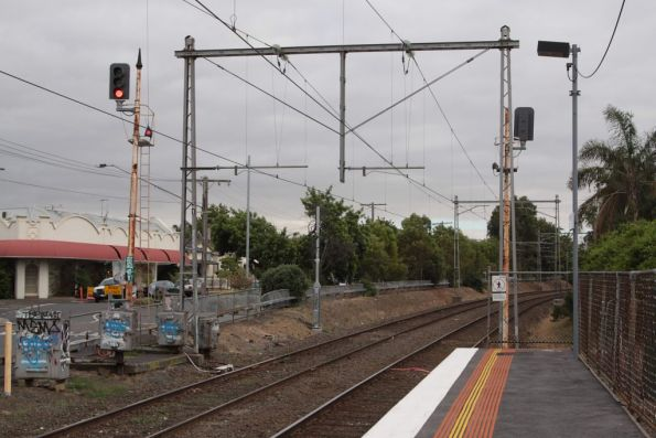 New signal post in place at the down end of Ascot Vale
