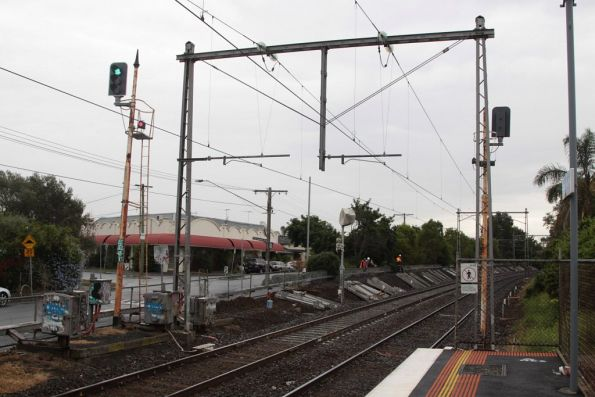 Old signalling still in place at Ascot Vale station