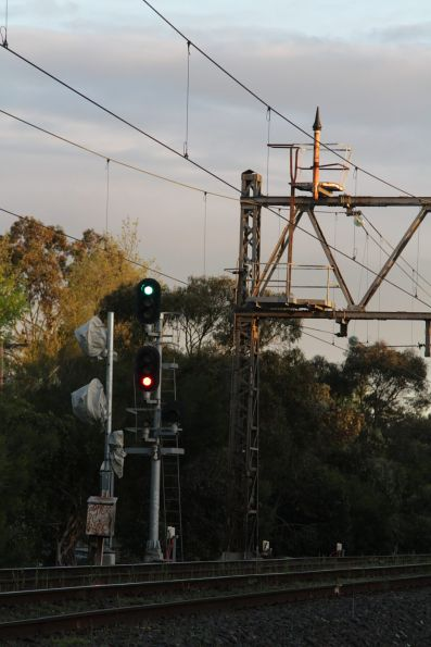 Signal 34 at Newmarket awaiting replacement
