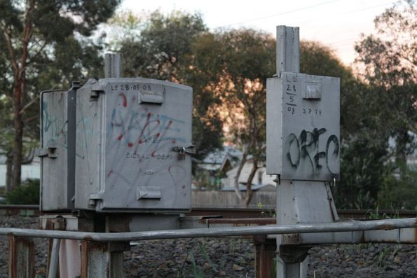 1920s era electrical boxes at Newmarket