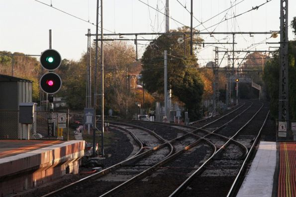 New signals commissioned on the Craigieburn line at Newmarket station