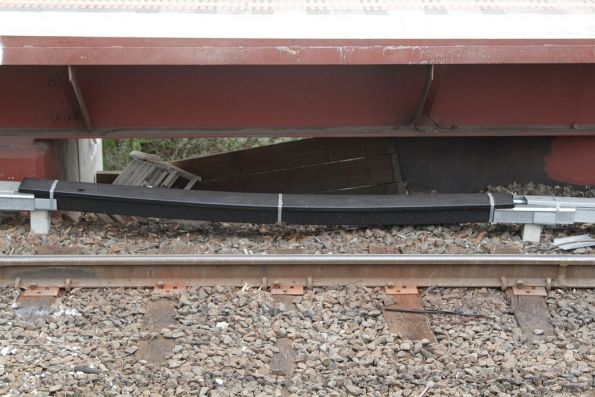 Plastic insulated signal trunking at the up end of Newmarket station
