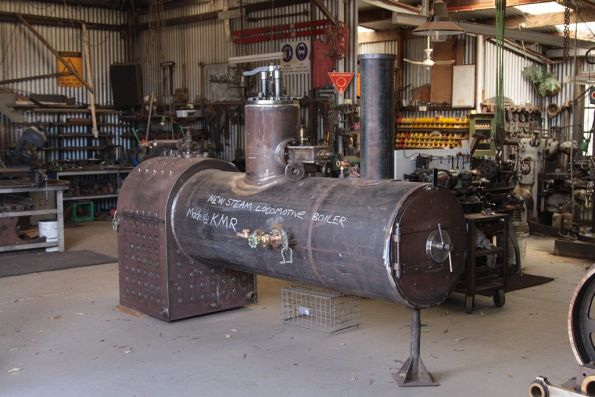 Boiler for the new build steam locomotive for the KMR