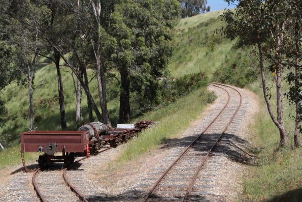 Wagons stored in Strath View Siding