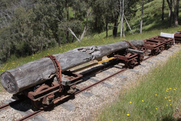 Log wagon at Strath View Siding