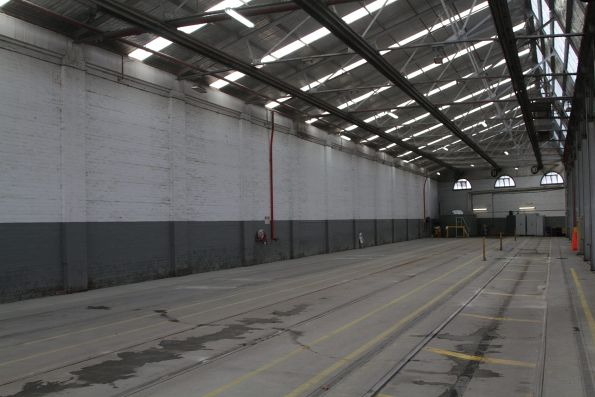 Roads 10 through 12 in the shed at Kew Depot