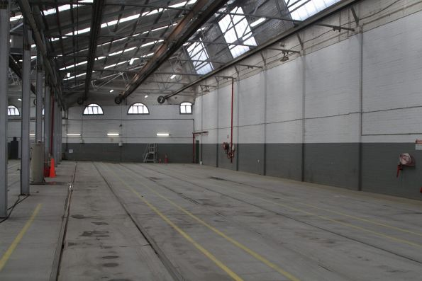 Roads 7 through 9 in the shed at Kew Depot