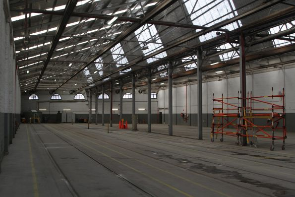 Roads 7 through 12 in the shed at Kew Depot