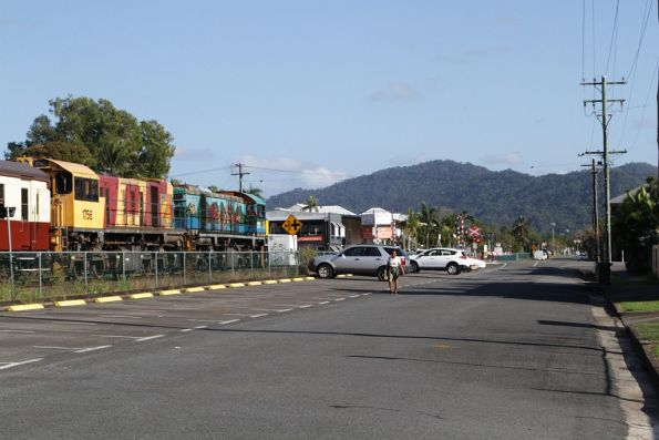 Kuranda Scenic Railway service heads out of the suburbs of Cairns