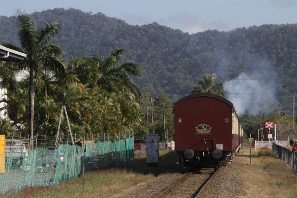 Locomotives notch up as they leave the 20 km/h speed restriction