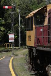 Locomotive 1756 stabled at Kuranda station before the return journey to Cairns