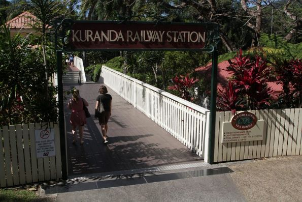 Entrance to Kuranda railway station