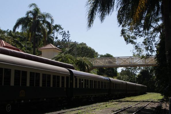 Train parked in platform 2 at Kuranda station