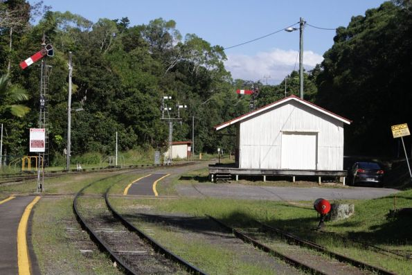 Signals at the Cairns end of Kuranda station
