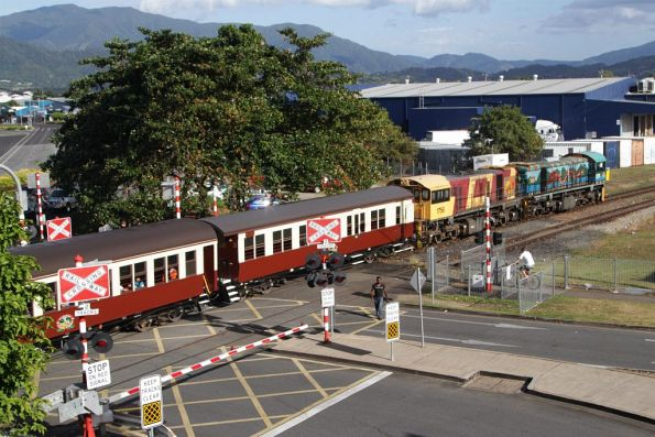 Locomotives 1771 and 1756 lead the 8.30am departure out of Cairns