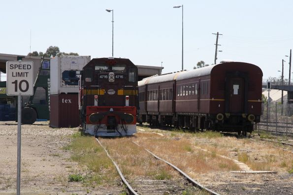LVR 4719, assorted carriages and another 47 stabled at Cootamundra