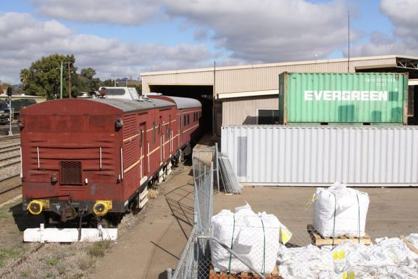 Lachlan Valley Railway carriages still in the yard at Cootamundra