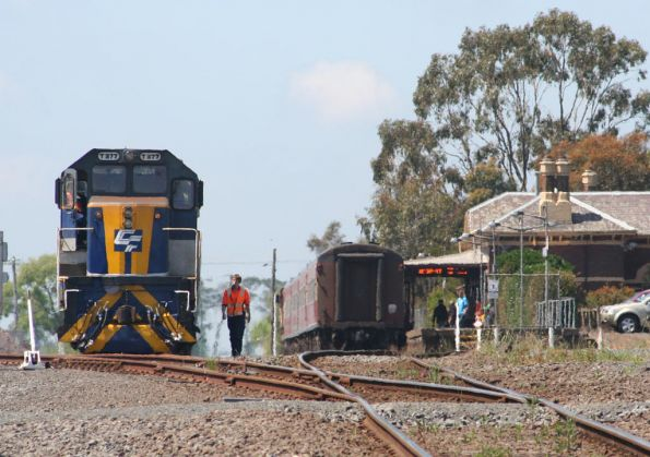 The freight gets ready to depart Camperdown