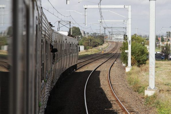 Clear tracks between Roxburgh Park and Coolaroo stations