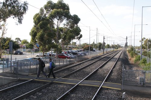 Possibly the last new level crossing to be built in Melbourne