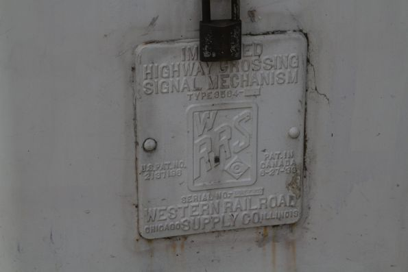 Western Railroad Supply Co. 'Improved Highway Crossing Signal Mechanism' boom gate motor