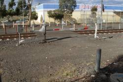 Miniature boom barriers at Watergardens protect the stabling yard access road