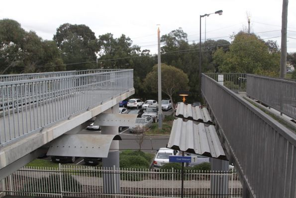 Pair of footbridges at East Malvern - one for platform interchange, the other for crossing the freeway