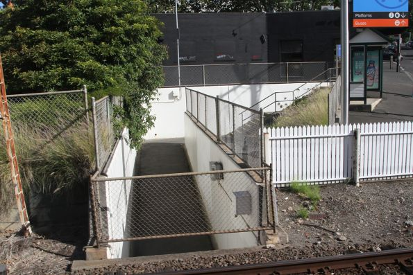 Pedestrian underpass at the Union Road level crossing in Surrey Hills