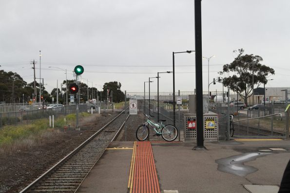 Signal cleared for an all stations train at Deer Park station