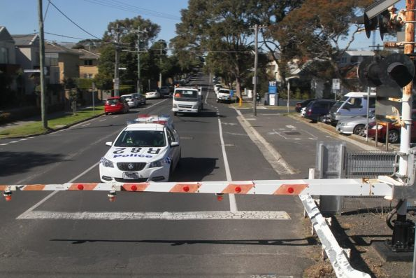 Abbott Street level crossing at Sandringham