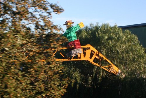 Milkcrate man riding VR crane 31 at Spotswood