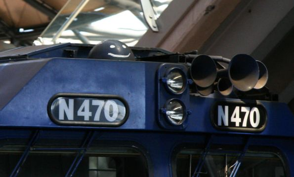 'R2D2' on the roof of locomotive N470
