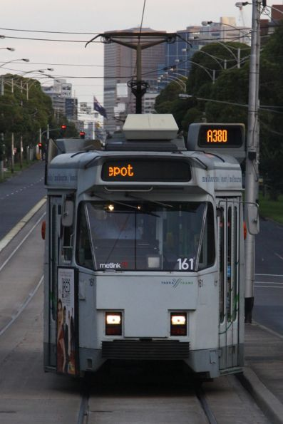 Z3.161 showing 'A380' in the route number board (it's off to Essendon Depot)