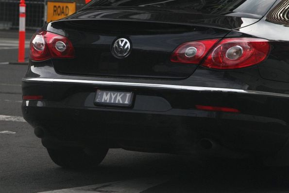 Why would you choose 'Myki' as your custom registration plate?
