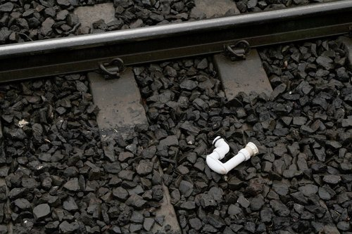 Someone lost their 'P' trap on the tracks at Seddon station
