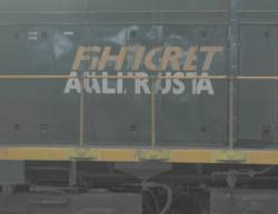 Messed up 'Freight Australia' logo on a P class