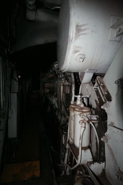 Looking down the engine room of S303