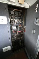 Electrical cabinet of S303, various soundproofing carpet and foam now fitted