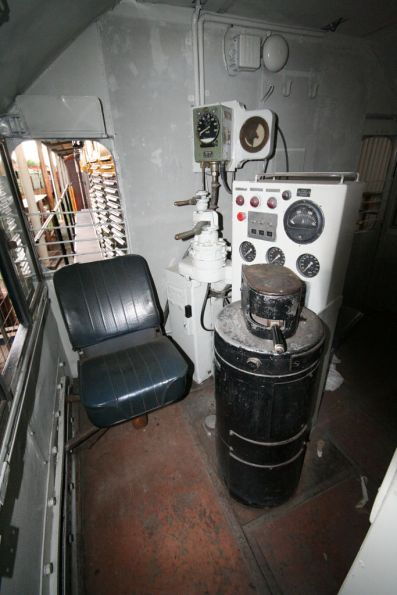 Inside the cab of flat top T341