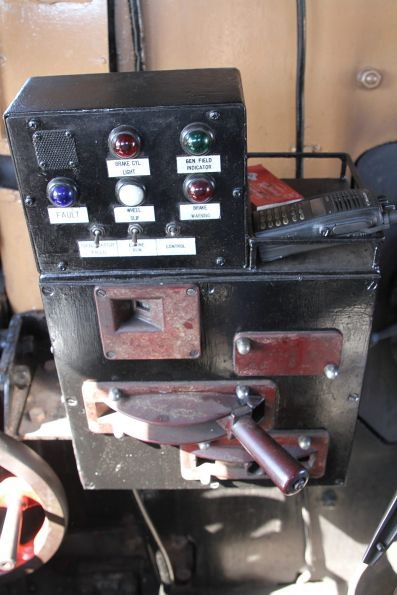 Diesel control stand in the cab of R711