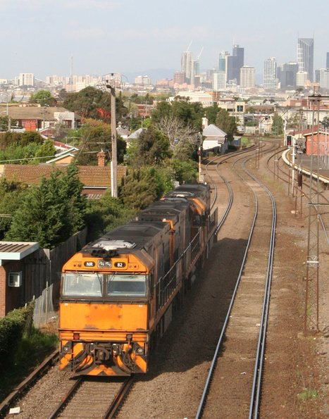 NR112, NR94 and NR82 run through Middle Footscray after visiting Spotswood