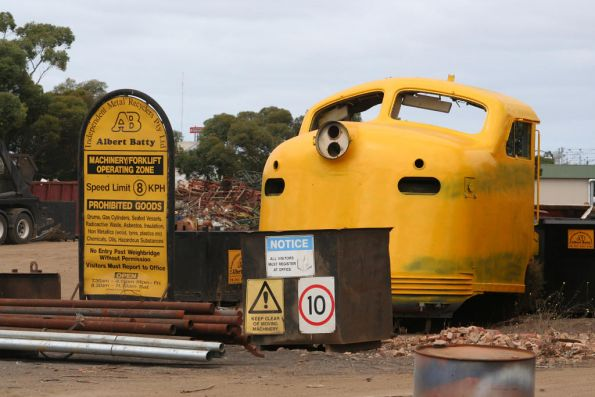 Nose of B68 at Albert Batty scrapmetal, North Geelong