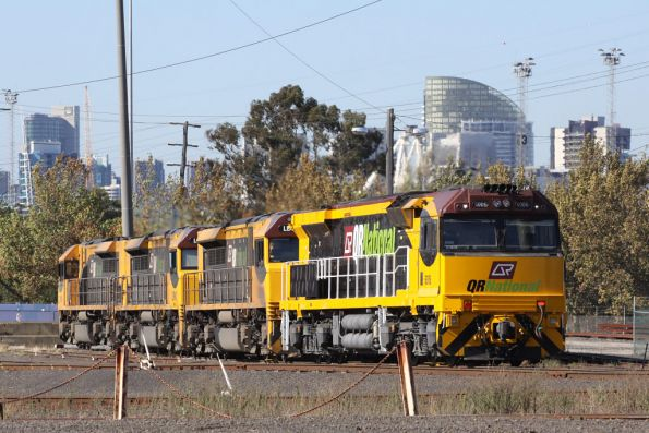 QRN 6006 stabled with three QRN liveried LDPs at North Dynon