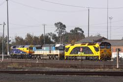 G534, LDP002 and 42206 stabled at North Dynon