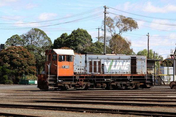 El Zorro's Y168 still stabled beside the Geelong Loco turntable