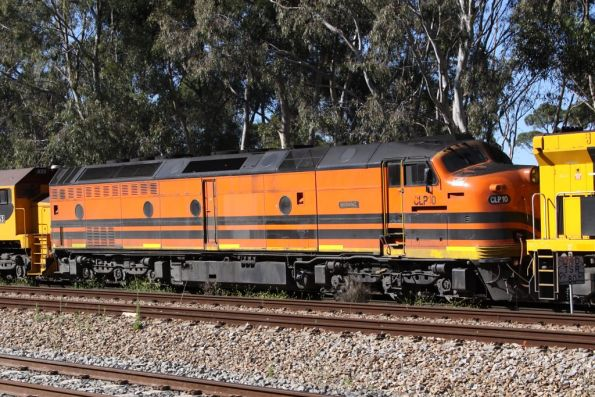 CLP10 second unit on a westbound QRN freight from Melbourne at Torrens Junction, SA