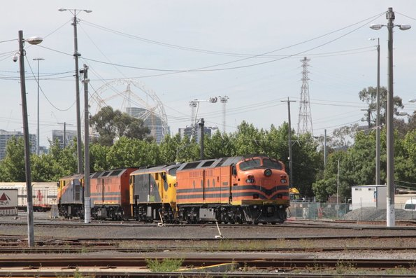 CLF1 leads 42103, a CLP and a 421 stabled at North Dynon