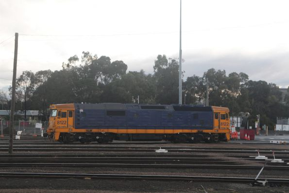 Pacific National shunter 8122 at the Melbourne Freight Terminal